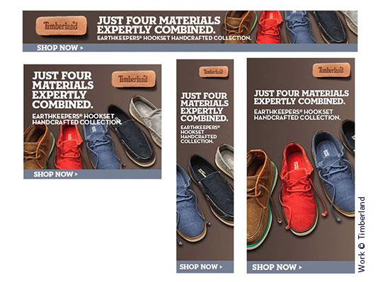 Timberland Ad Banners by Wetherbee Creative wetherbeecreative.com