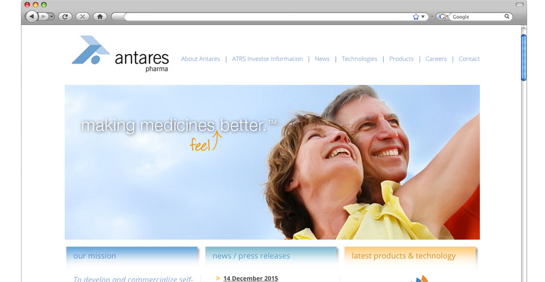 Antares Website Design and Development by WetherbeeCreative.com