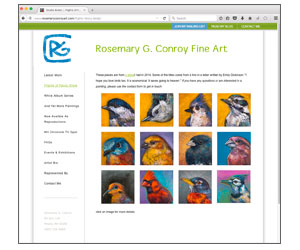 Wetherbee Creative - Rosemary Conroy Art - Screen Shot
