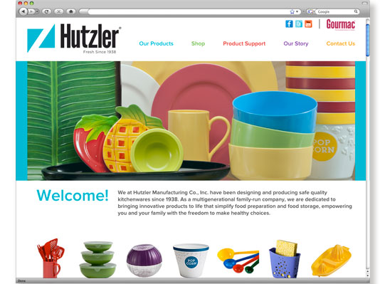 Hutzler Manufacturing Website by Wetherbee Creative