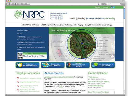 Nashua RPC Website Development - by Wetherbee Creative