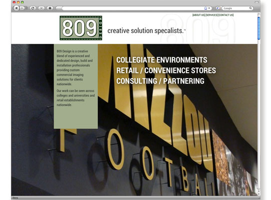 809 Design Website Design & Development by Wetherbee Creative